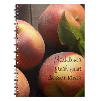 peaches dessert ideas notebook