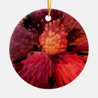 Peaches Extrude Ceramic Ornament