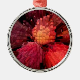 Peaches Extrude Metal Ornament