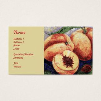 Peaches Fruit Business Cards