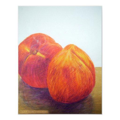 """Peaches Invitation 4.25"""" X 5.5"""" Invitation Card"""