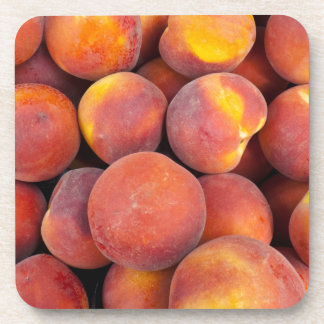 peaches Just in the globe Beverage Coaster