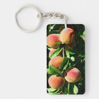 Peaches Keychain