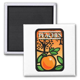 Peaches 2 Inch Square Magnet
