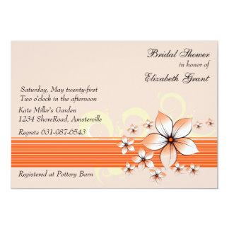 Peaches 'n Cream Bridal Shower Invitation