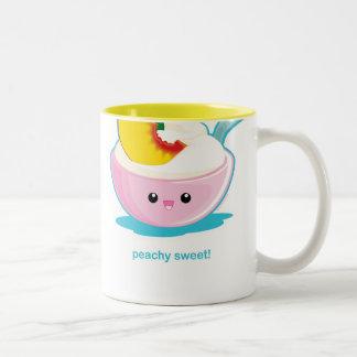 Peaches 'N Cream Two-Tone Coffee Mug
