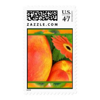 Peaches on Kiwi Postage Stamps