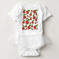 Peaches pattern baby bodysuit