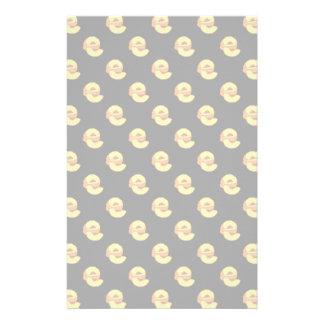 Peaches Pattern - Black Background Custom Stationery