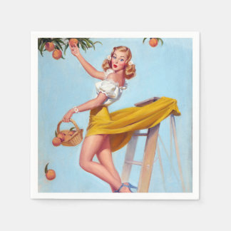 Peaches Pin Up Napkin