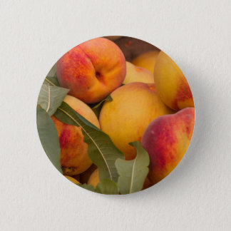 peaches pinback button
