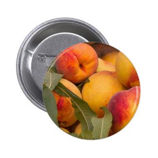 peaches pinback button
