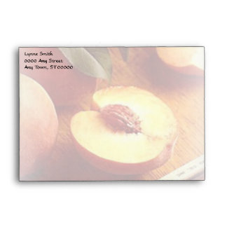 Peaches Stationary Envelope