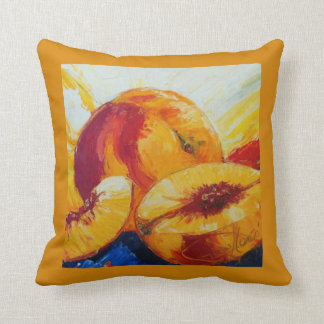 Peaches Throw Pillow
