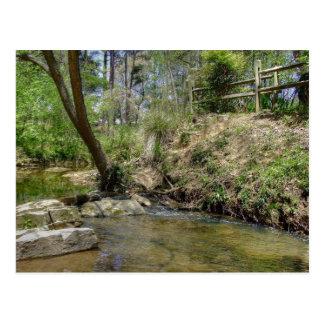 Peachtree creek rail fence post card