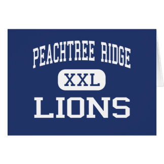 Peachtree Ridge - Lions - High - Suwanee Georgia Cards
