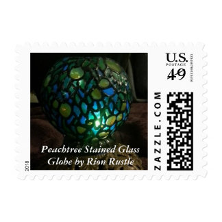 Peachtree Stained Glass Globe USPS Postage Stamp