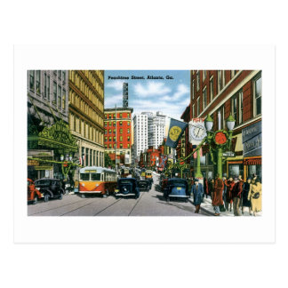Peachtree Street, Atlanta, Ga Postcard