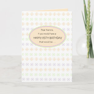 85th birthday greetings gifts on zazzle peachy 85th birthday greeting card for her m4hsunfo