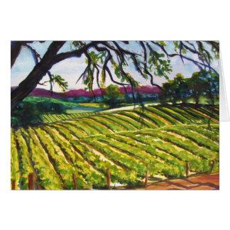 Peachy Canyon Vineyard Greeting Card