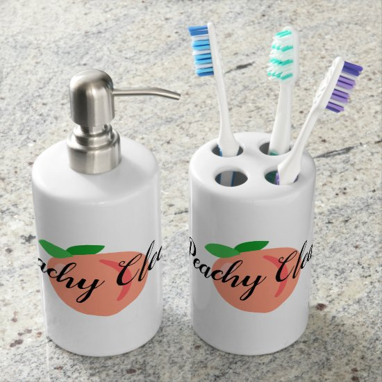 Peachy Clean bathroom set