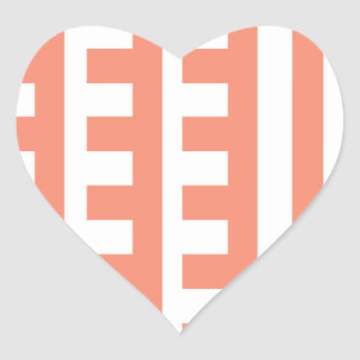 Peachy Combs Tooth Heart Sticker