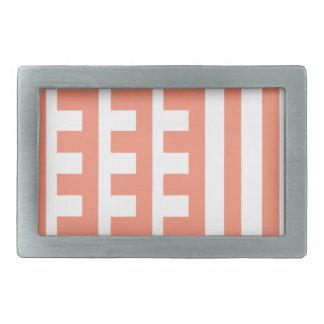 Peachy Combs Tooth Rectangular Belt Buckle