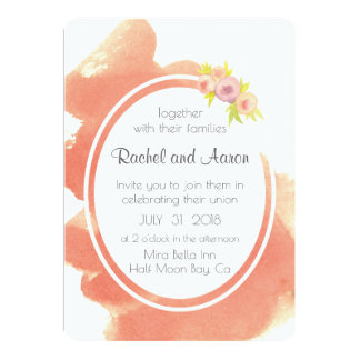 Wedding Invite Customized with Watercolor Background