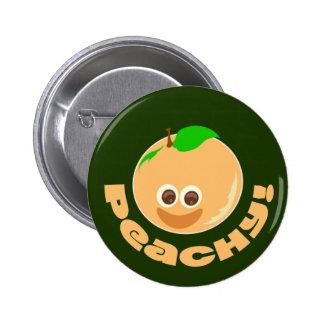 Peachy Dark Pinback Buttons