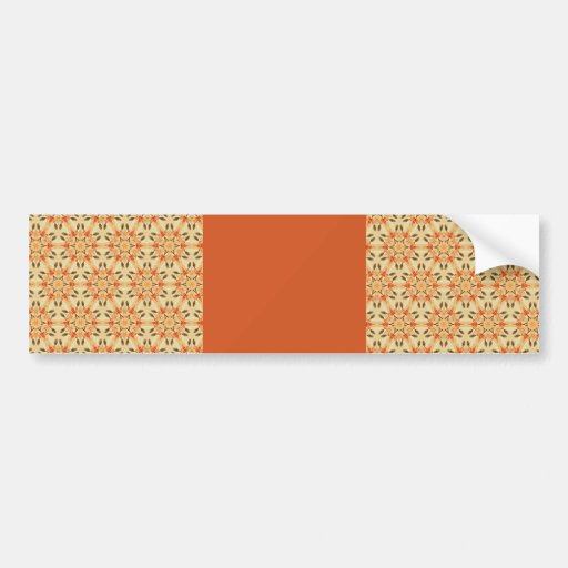 Peachy Floral Abstract Bumper Sticker