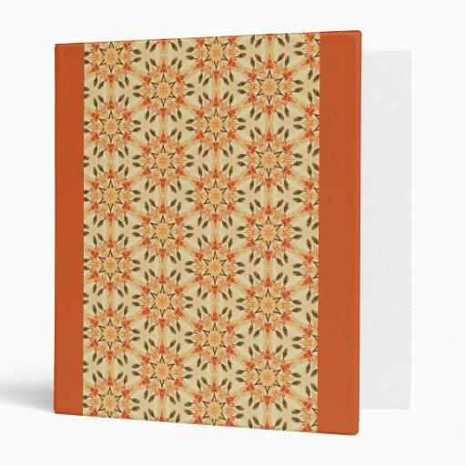 Peachy Floral Abstract Vinyl Binders
