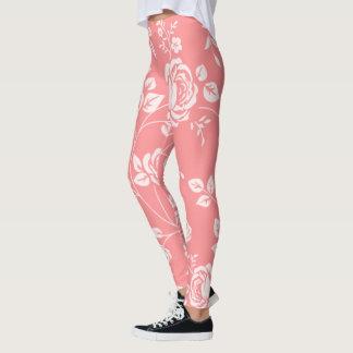 Peachy Floral (c) XS-TO--XL_Leggings_ Leggings