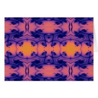 peachy fractal card