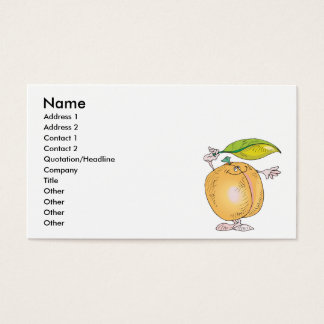 peachy keen character business card