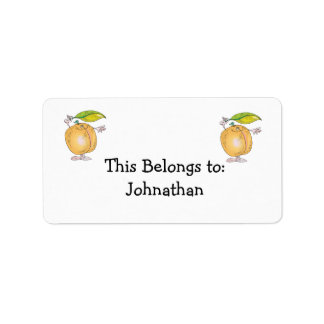 peachy keen character label