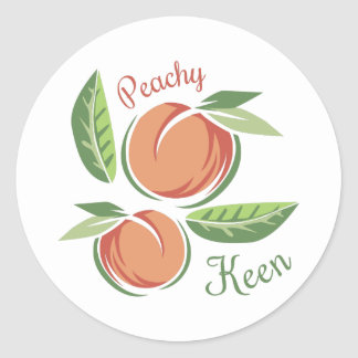 Peachy Keen Classic Round Sticker
