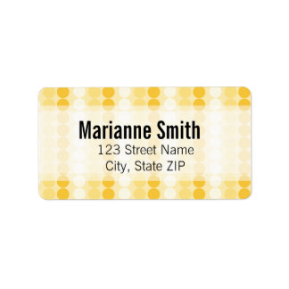 Peachy Keen Polka-dots Personalized Address Labels