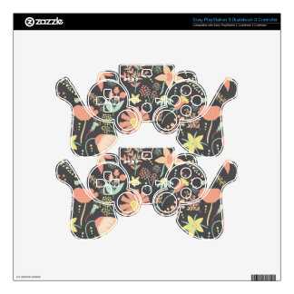 Peachy Keen Wildflowers Decal For PS3 Controller
