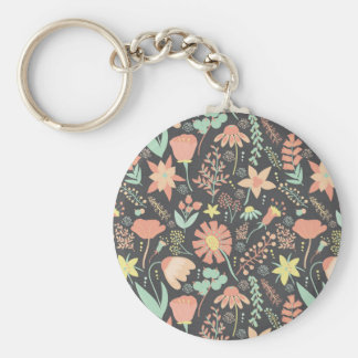 Peachy Keen Wildflowers Keychain