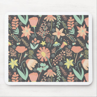 Peachy Keen Wildflowers Mouse Pad
