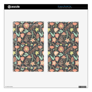 Peachy Keen Wildflowers Skins For Kindle Fire