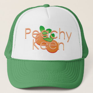 Peachy Keen With Peaches Trucker Hat