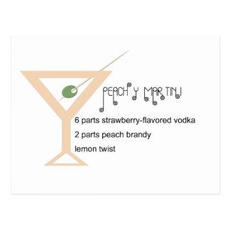 Peachy Martini Postcard