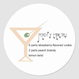 Peachy Martini Stickers