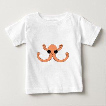 Beach Themed Peachy Octopuss Baby T-Shirt