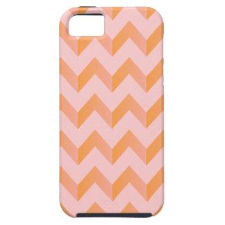 Peachy Pink Chevron iPhone 5 Case