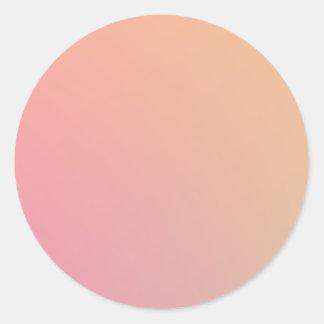 Peachy Pink Classic Round Sticker