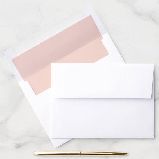 Peachy Pink Envelope Liner