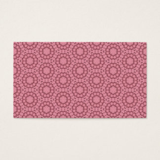 Peachy Pink Lacy FlowersTemplate P013 Business Card