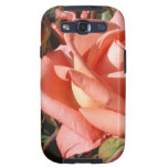Peachy Pink Rose Samsung Galaxy S3 Case